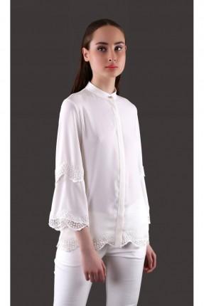قميص نسائي دانتيل - ابيض