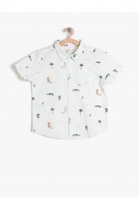 قميص اطفال ولادي نقشة - سكري