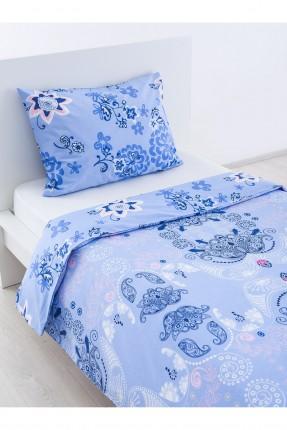 طقم غطاء لحاف سرير مفرد / قطعتين / ازرق