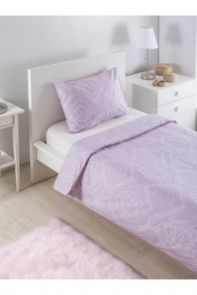 طقم غطاء لحاف قطني مزخرف / قطعتين / سرير مفرد