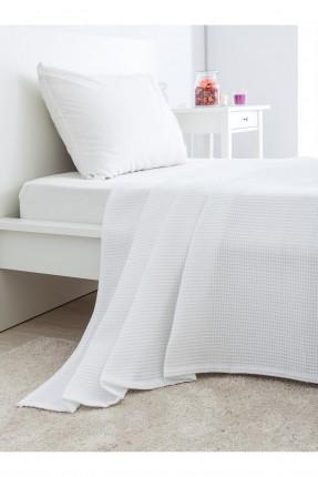 غطاء سرير مفرد قطني /150 * 230 / ابيض