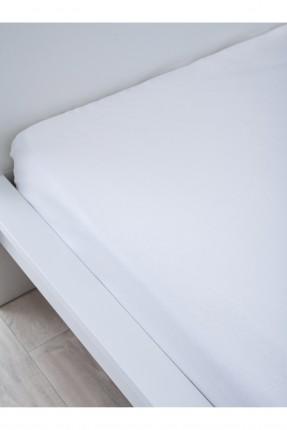 شرشف سرير مزدوج / 240*260 / ابيض