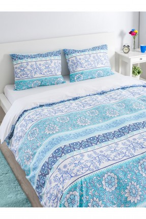 طقم غطاء سرير مزدوج قطني / قطعتين /
