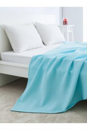 غطاء سرير مزدوج قطني /200 * 220 / تركواز