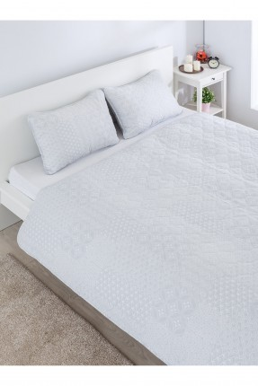طقم غطاء سرير  مزدوج مزخرف / قطعتين /