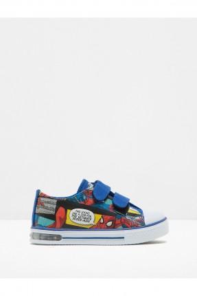حذاء اطفال ولادي سبايدر مان - ازرق