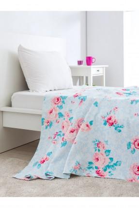 غطاء سرير مفرد قطني /160 * 230 / ازرق