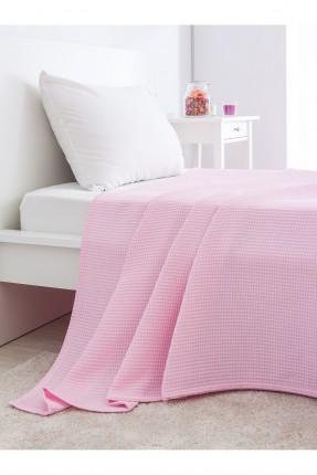 غطاء سرير مفرد قطني /150 * 230 / وردي