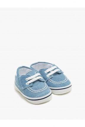 حذاء بيبي ولادي مع رباطات - ازرق