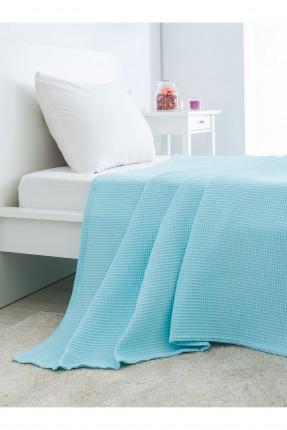 غطاء سرير مفرد قطني /150 * 230 / تركواز