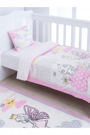 طقم غطاء سرير بيبي وجهين مع رسومات