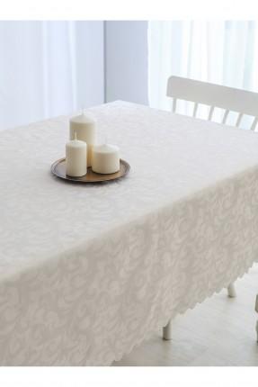 غطاء طاولة مزخرف - بيج
