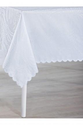 غطاء طاولة مزخرف - ازرق فاتح