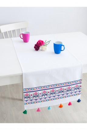 غطاء طاولة / 50 * 150 / ابيض