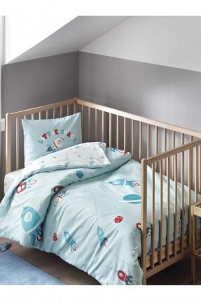 طقم غطاء سرير بيبي ولد مع رسومات بوجهين