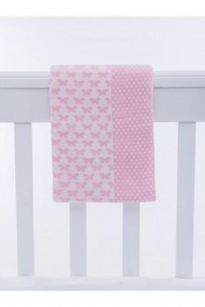 بطانية سرير بيبي / 90 * 120 / وردي