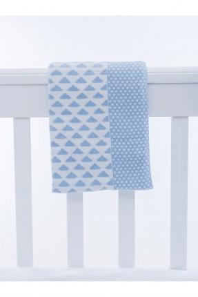 بطانية سرير بيبي / 90 * 120 / ازرق