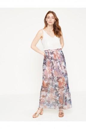 تنورة طويلة شفافة - ازرق