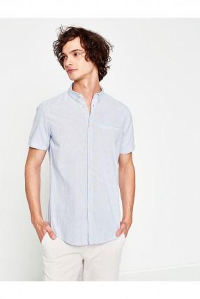قميص رجالي - ازرق فاتح