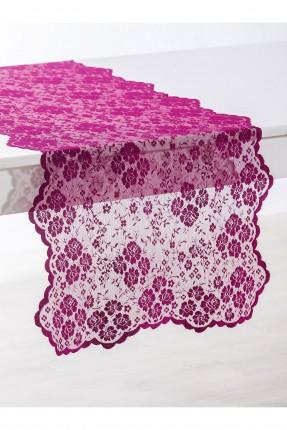غطاء طاولة دانتيل فاخر - فوشي