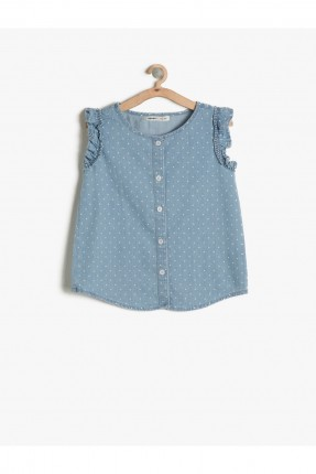 قميص اطفال بناتي - ازرق