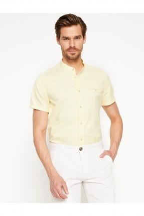 قميص رجالي - اصفر فاتح