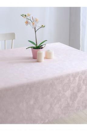 غطاء طاولة مزخرف - وردي