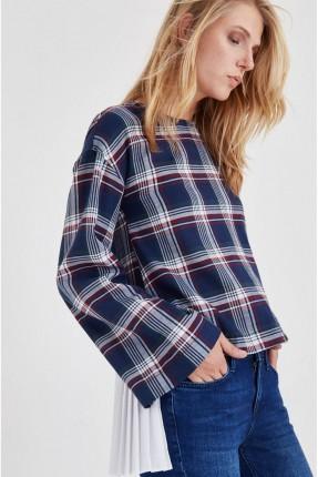 قميص نسائي كارويات كم طويل - كحلي