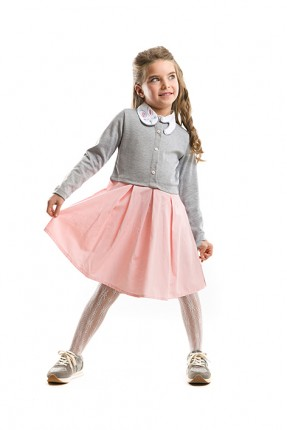 فستان اطفال بناتي مع ياقة ارنب