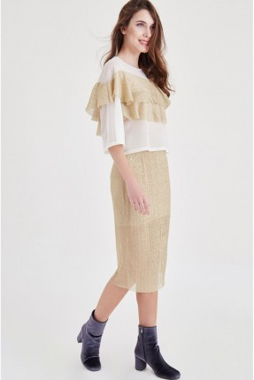 تنورة طويلة - ذهبي