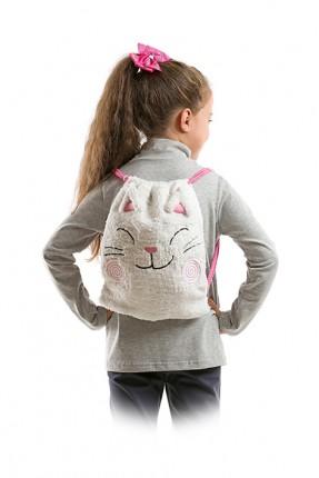 حقيبة اطفال بناتي نقشة قطة