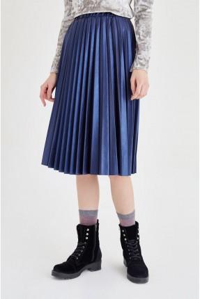 تنورة طويلة - كحلي