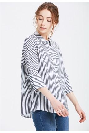 قميص نسائي مقلم