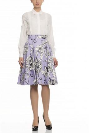تنورة قصيرة مزخرفة - موف