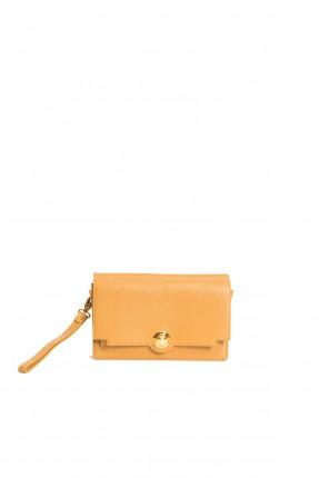حقيبة جلد نسائية - اصفر