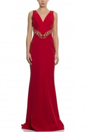 فستان رسمي  طويل - احمر