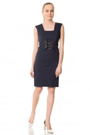 فستان بدون اكمام - نيلي