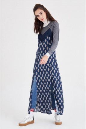 فستان طويل - ازرق