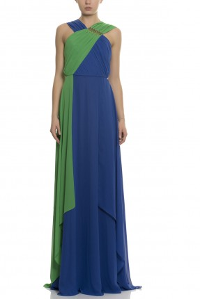 فستان سهرة طويل - ازرق