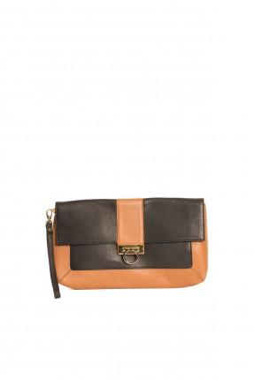 حقيبة جلد نسائية - بني