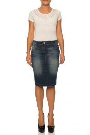 تنورة قصيرة جينز