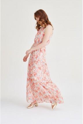 فستان مزخرف - وردي