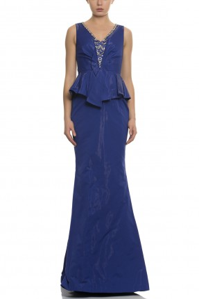فستان رسمي طويل - ازرق