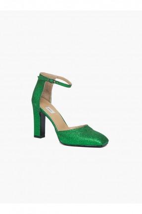 حذاء سهرة نسائي - اخضر لميع