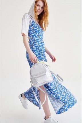 فستان مزخرف - ازرق