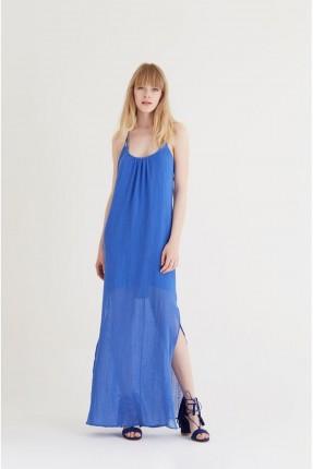 فستان سبور حفر - ازرق
