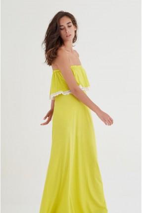 فستان سبور طويل كت - اصفر