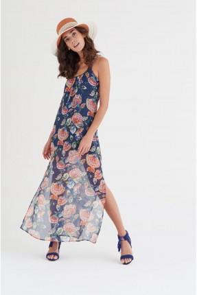 فستان سبور طويل نقشة