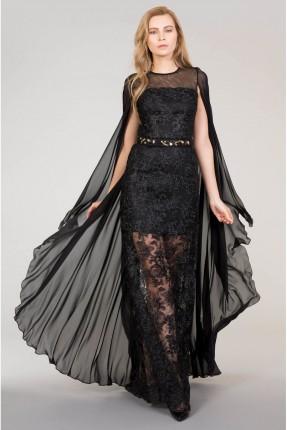 فستان شيفون - اسود