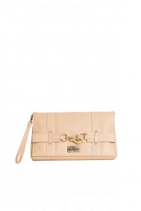 حقيبة جلد نسائية - بيج